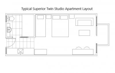 Superior Twin Studio Apartments
